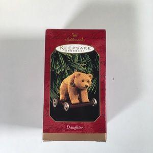 Hallmark Daughter Bear Ornament